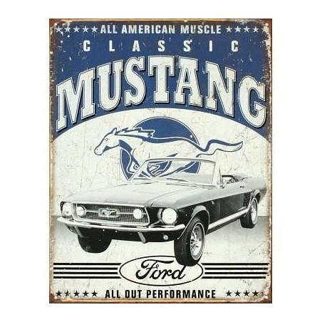 Plaque de parking mustang rétro