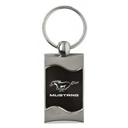 Porte clé Mustang Noir carre