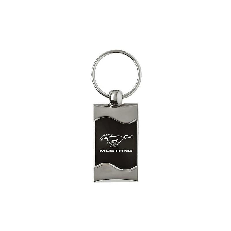 Porte clé Mustang Noir carré officiel Ford