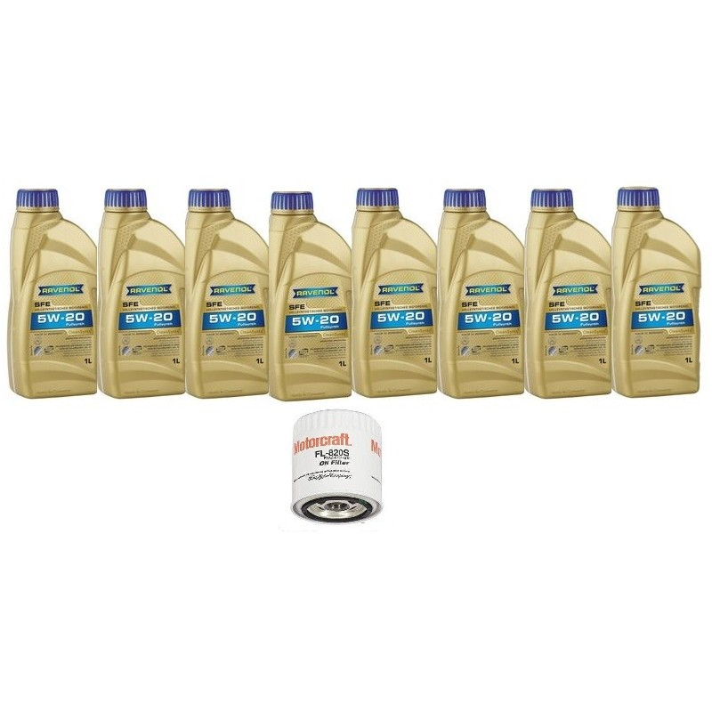 Pack 8 litres 5W20 + 1 filtre Ford FL820s Mustang