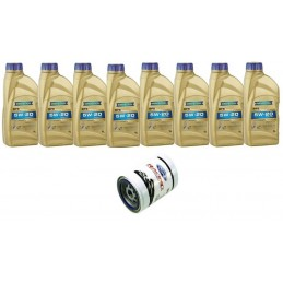 Pack 8 litres 5W20 + 1 filtre Ford Racing FL820s