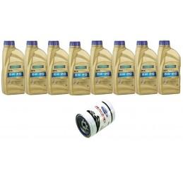 Pack 8 litres 5W20 Ravenol + 1 filtre Ford Performance FL820s