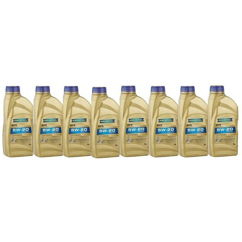 Huile 5w20 synthétique - pack de 8 litres