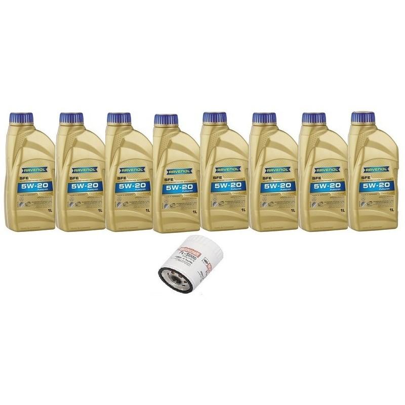 Pack 8 litres 5W20 + 1 filtre Ford FL500s (11-13)
