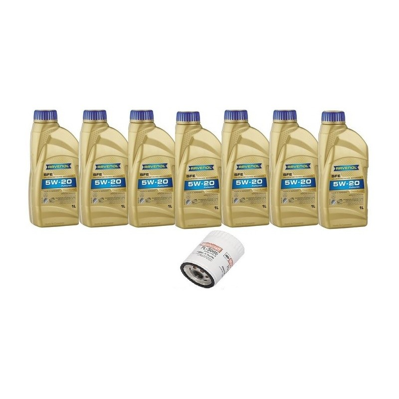 Pack 7 litres 5W20 + 1 filtre Ford FL500s Mustang 2011-14