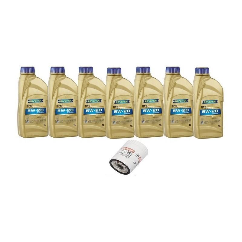 Pack 7 litres 5W20 + 1 filtre Ford FL500s