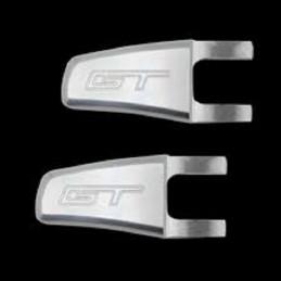 Loquets relève sièges satinés logo GT Mustang 2005-14