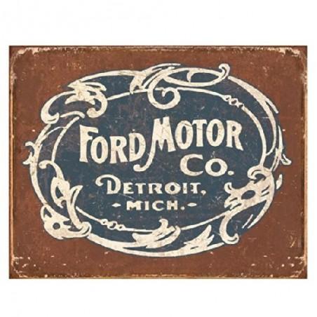 Plaque galvanisée Ford Motor modèle historique