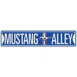 """Plaque galvanisée """"Mustang Alley"""""""