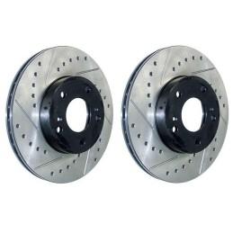 Disques de frein avant percés rainurés mustang V6 (05-10)