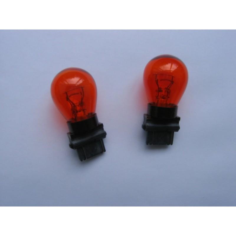 Ampoules Philips T25 3157 wedge oranges