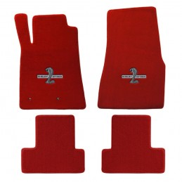 tapis mustang shelby gt500 rouge