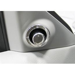 Couvre bouton de réglage rétroviseur chrome Mustang 2005-09