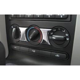 Set de 3 boutons climatisation Chrome