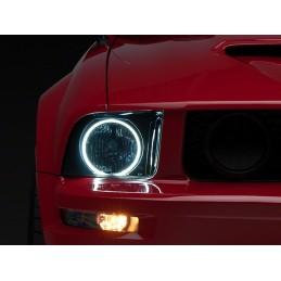 Feux avant Halo mustang 05-09 GT, V6