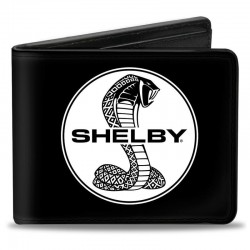 Portefeuille SHELBY noir logo blanc
