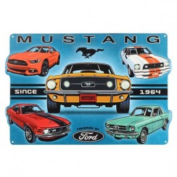 Plaque Mustang Collage metal relief