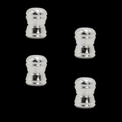 Bouchons de valves Chrome (pack de 4)