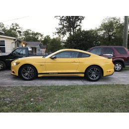 Bandes de bas de caisse Mustang noir brillant 2015-19