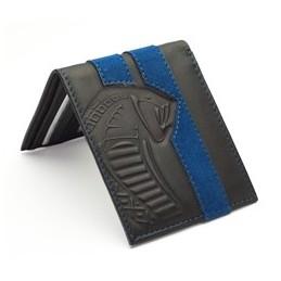 Portefeuille SHELBY noir bandes bleues Officiel