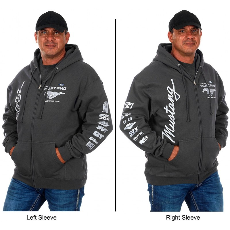 Sweat gris charcoal Mustang Officiel Ford
