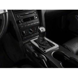 Contour boite de vitesse manuelle chrome gravage Mustang