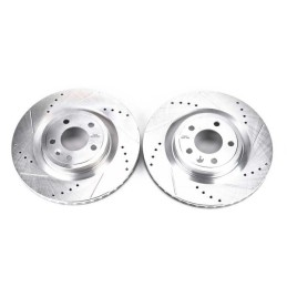 Disques de frein avant percés rainurés V6 (11-14) GT (05-10)
