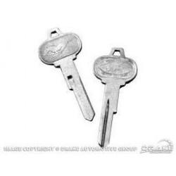 Set de clé contact + clé portière Mustang 1965-66