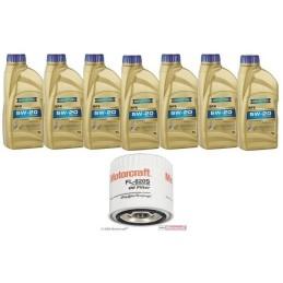 Pack 7 litres 5W20 + 1 filtre Ford FL820s