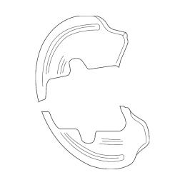Flasque de protection de disque arrière Mustang 2005-14