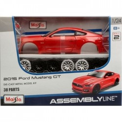 Mustang 2015 1/24 Maïsto Assembly line rouge