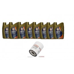 Pack 8 litres 5W20 Gulf + 1 filtre Ford FL500s