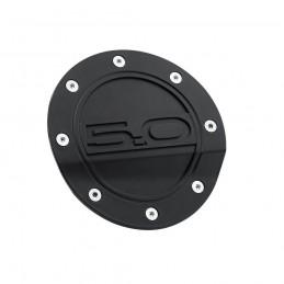 Trappe à essence noir mat logo 5.0 Mustang 2015-21