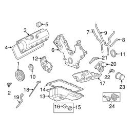 Joint bas de cache avant moteur Mustang 2005-08