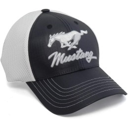 Casquette Mustang Noir et blanche