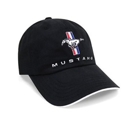 Casquette Mustang Noir logo tribar
