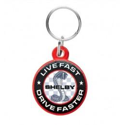 Porte clé Shelby Live Fast Drive Faster