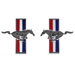Emblèmes Pony d'aile Chromes - Paire